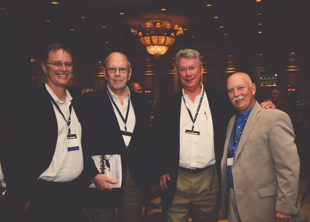 Preston Haskell (2nd from left) receives the 2013 TCA Peter Courtois Memorial Award.  Shown here are Alan Wilson of Haskell (far left), Bob Foley of The Foley Group (2nd from right) who presented the award to Preston, and Ed Sauter (far right), TCA Executive Director.
