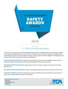 TCA Safety Awards Application