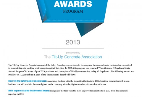 TCA Safety Awards Application